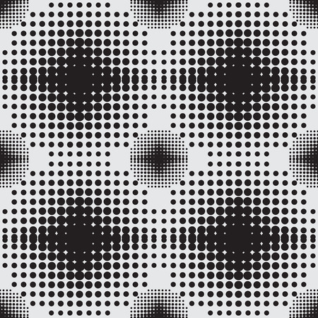 coatings: Halftone  background seamless pattern circle vector illustration Stock Photo