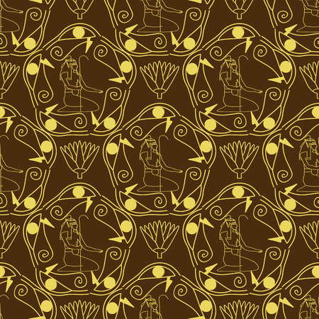 texture cloth: Egyptian seamless pattern . Egypt hieroglyphs. Tribal art repeating background texture. Cloth design.