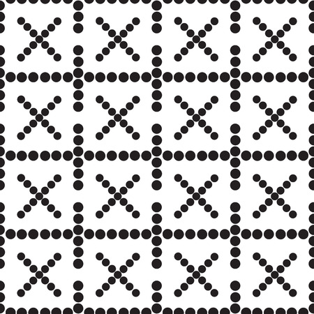 crosses: a seamless pattern crosses black and white  vector illustration