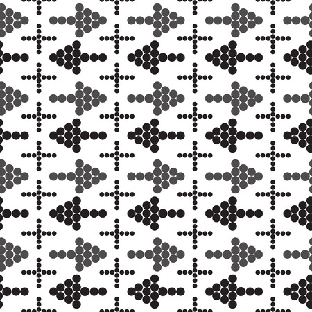 different directions: ornament seamless arrows in different directions. Cross vector illustration