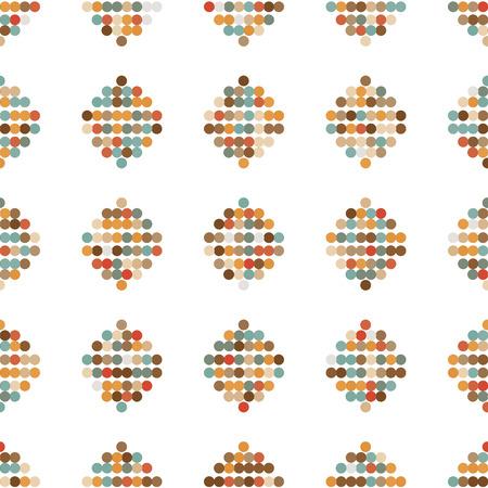 retro circles: seamless ornament retro circles from circles vector illustration Illustration