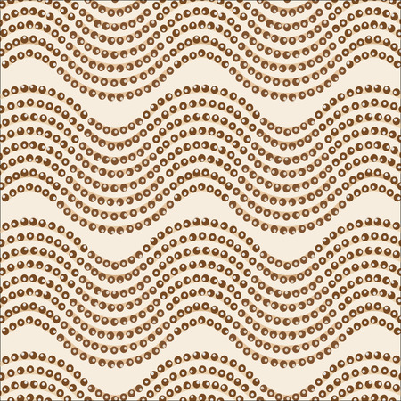 wave ornament: an abstract seamless pattern. Wave ornament brown palettevector illustration Illustration