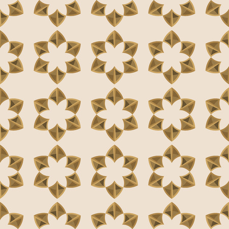 linoleum: seamless floral ornament. Geometric shapes vector illustration