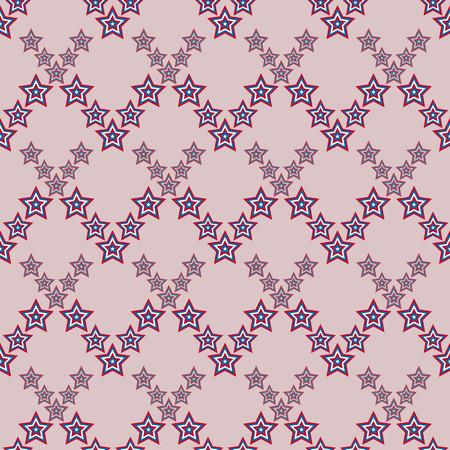 4 star: July 4 seamless star pattern American vector illustration