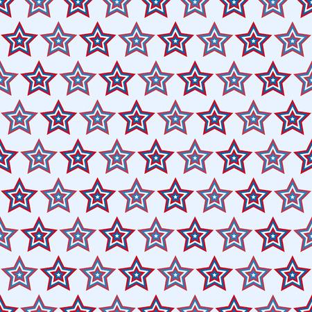 july 4: July 4 seamless star pattern American vector illustration