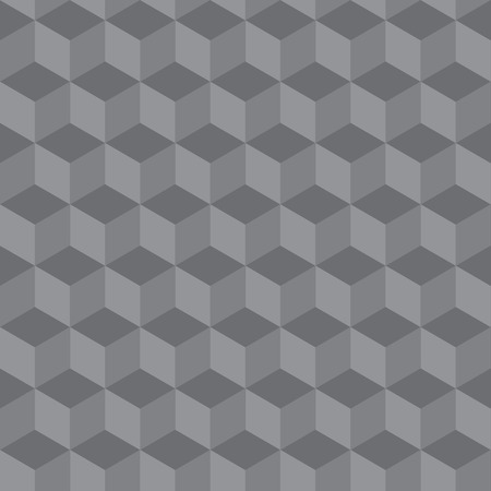 3 d: abstract seamless geometric pattern 3 D illusion - vector illustration Illustration