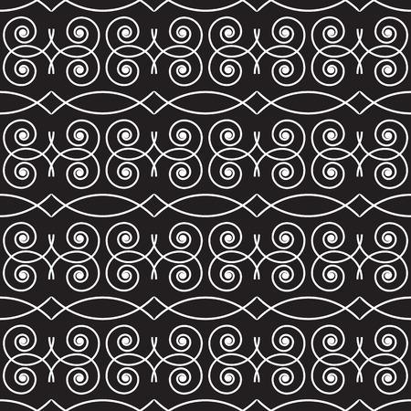 blackwhite: seamless monochrome geometric pattern black-white- vector illustration