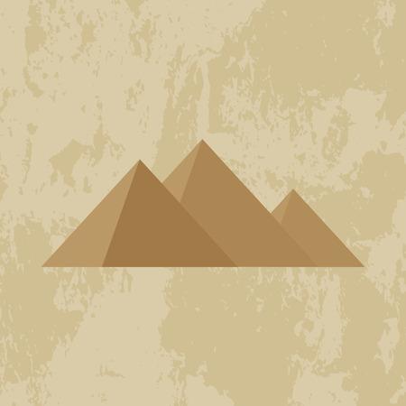 pyramid egypt: Egypt pyramid grunge background - vector illustration.