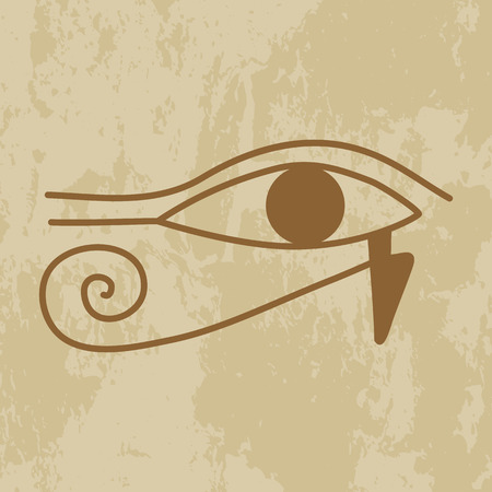 eye of providence: Egypt, the hieroglyph of the eye of Providence on grunge background