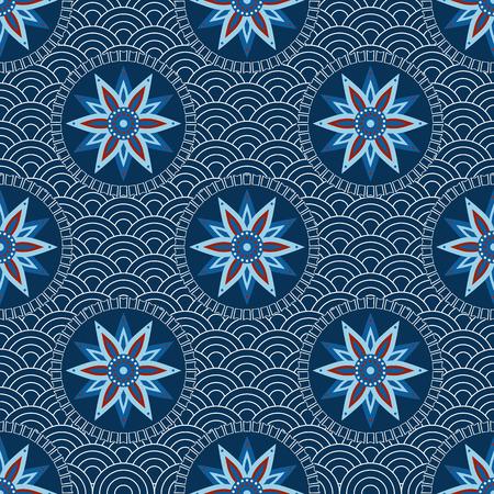 Seamless asiatique. Ornement japonais - illustration vectorielle Banque d'images - 42692380