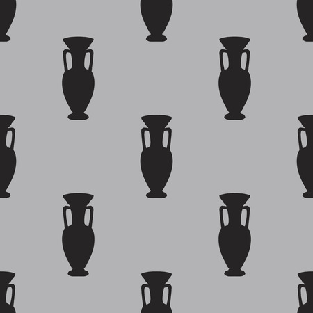 grey background: �rabe florero patr�n sin fisuras en el fondo gris - ilustraci�n vectorial Vectores