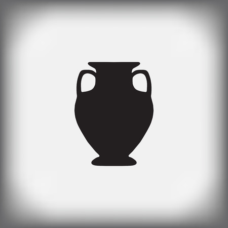 archaeological: antique vase on a gray background - vector illustration