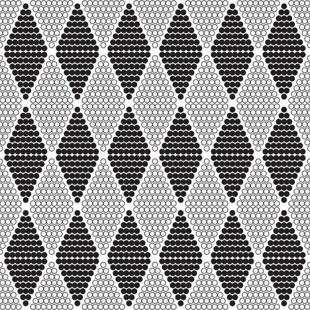 circumference: seamless geometric pattern with circles  diamonds vertical - vector illustration Illustration