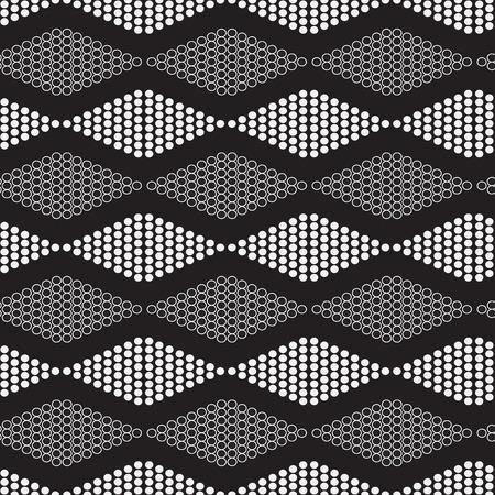 horizontally: seamless geometric pattern with circles diamonds horizontally -  vector illustration. Illustration