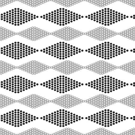 horizontally: seamless geometric pattern with circles  diamonds horizontally -  vector illustration.