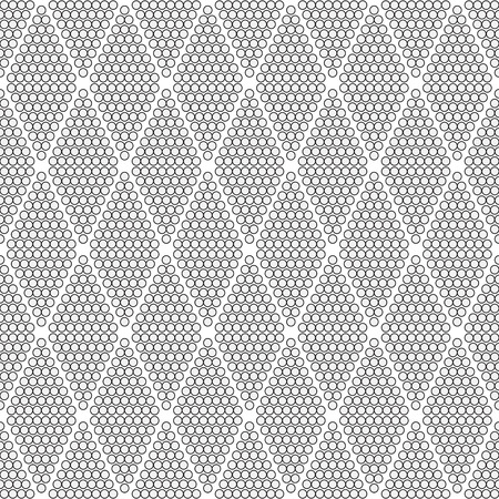 circumference: seamless geometric pattern with circles  diamonds vertical  -  vector illustration.