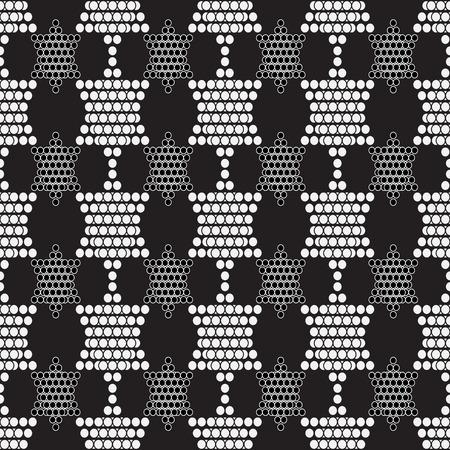 circumference: seamless geometric pattern shape from circles -  vector illustration.