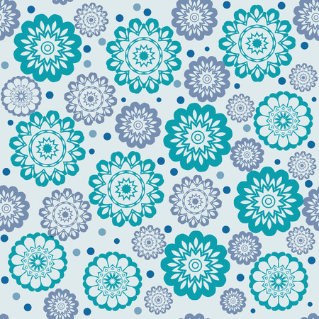 chaotic: geometric floral seamless pattern chaotic   - vector illustration