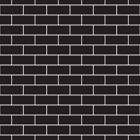 brickwork: Brickwork seamless pattern. Monochrome. Black-and-white. Vector illustration