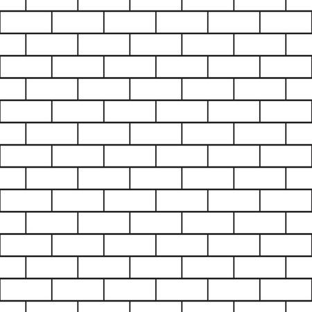paredes de ladrillos: Ladrillo sin patrón. Monocromo. Negro y blanco. Ilustración vectorial