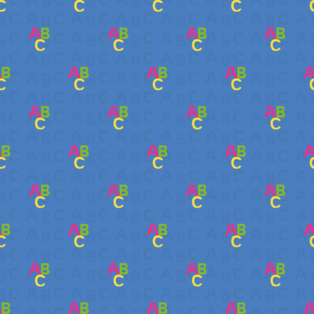grammatical: seamless pattern with letters of the ABC. Vector illustration, seamless pattern