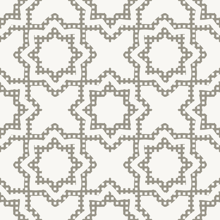 superimposed: Oriental seamless ornament. The octagon, floral superimposed square texture. Vector illustration.