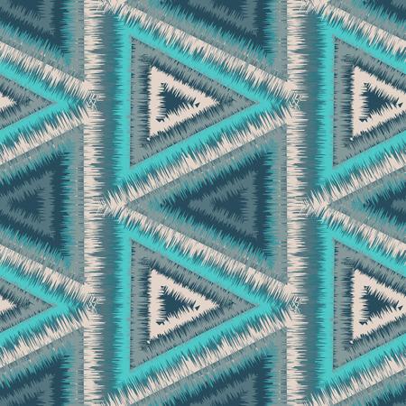 tribales: Modelo incons�til de la tribu Navajo. Tel�n de fondo inconformista �tnico. Estampado geom�trico azteca. Ilustraci�n del vector. Vectores