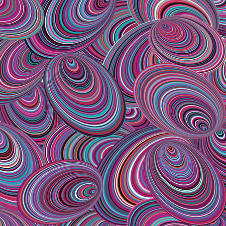 molluscs: Bright abstract patterns. Molluscs and shellfish. Colorful, bright seamless background texture.