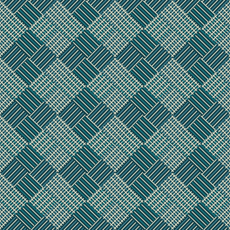 splice: seamless abstract ornament of squares the intertwining of lines - vector illustration