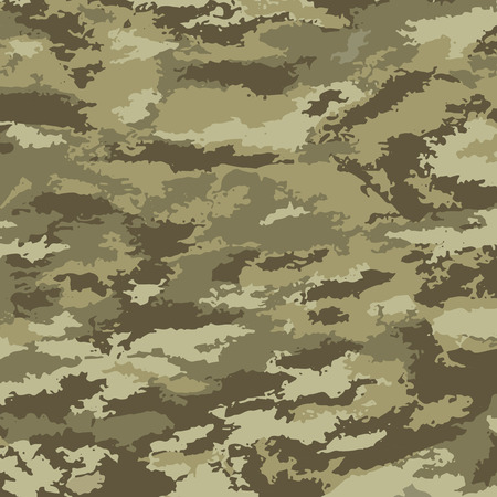 Camouflage background - vector illustration. Abstract pattern khaki Ilustração