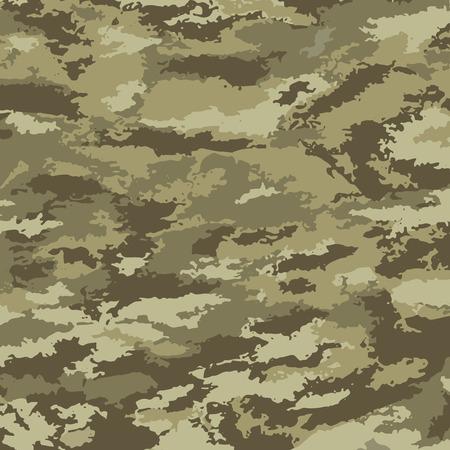 Camouflage background - vector illustration. Abstract pattern khaki Vettoriali