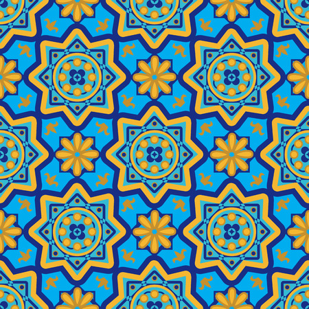 repetition: Arabic seamless patterns. Colorful background - vector illustration Illustration
