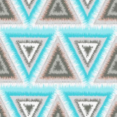 三角形の部族のシームレス パターン  イラスト・ベクター素材