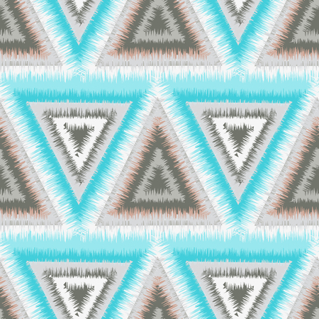 tribal seamless pattern of triangles