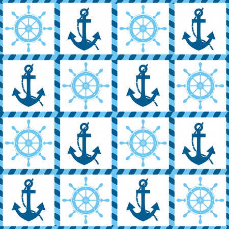 helm: seamless pattern of sea anchors and helm