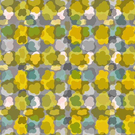 distributed: abstract seamless pattern-vector illustration. Spots of different colors are randomly distributed.