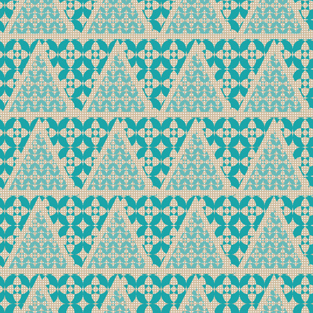 centric: Geometric triangles  seamless pattern. Vector illustration. The checkered background