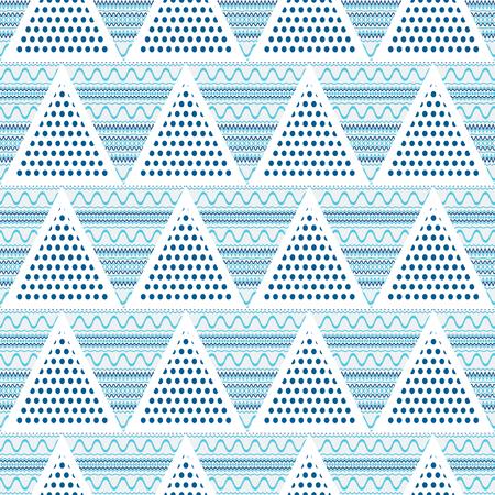 lineas onduladas: Tri�ngulos abstracto geom�trico sin fisuras patr�n de la ilustraci�n-vector. L�neas onduladas en el tri�ngulo. Vectores