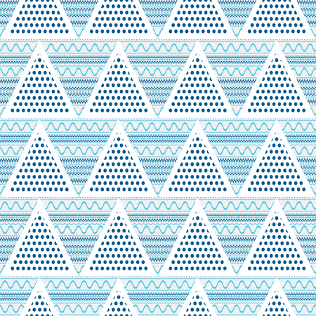 wavy lines: Triangles abstract geometric seamless pattern-vector illustration. Wavy lines in the triangle.