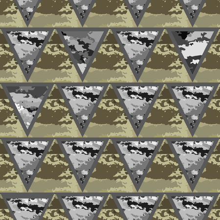 camo: Triangles seamless pattern with camouflage-vector illustration. Background camo.