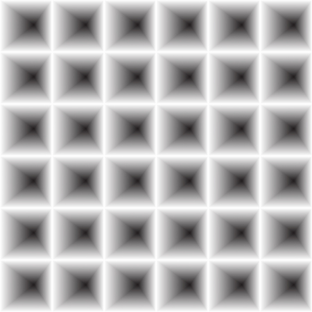 concave: concave inward volume squares - vector illustration. The illusion of volume, 3D image. The gray background. Illustration