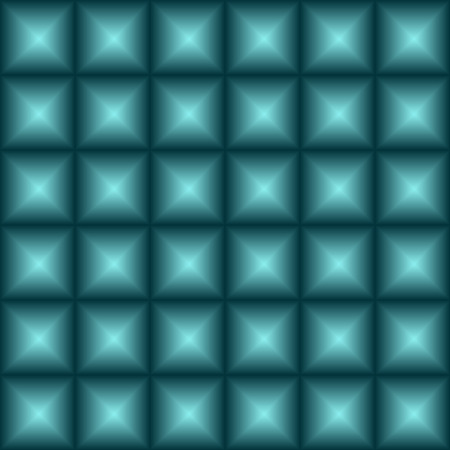 checkered volume: seamless convex squares - vector illustration. Surround the squares, an illusion, a 3 d image.