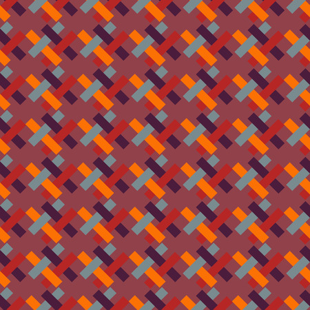 interlaced: Bright geometric pattern of interlaced rectangles-illustration. Located diagonally.