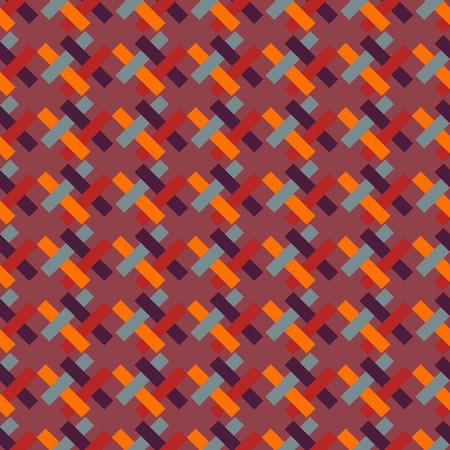 diagonally: Bright geometric pattern of interlaced rectangles-illustration. Located diagonally.