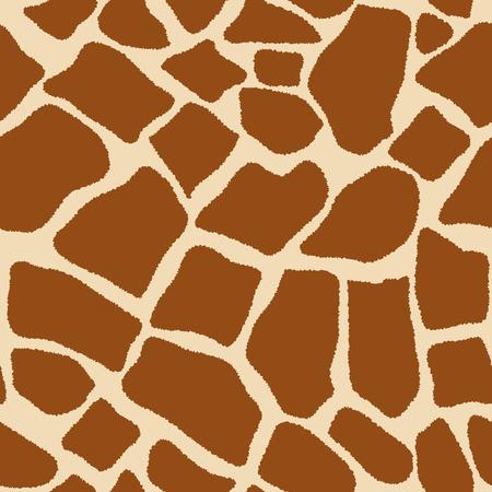 キリン ベクトル図の皮膚のシームレス パターン模倣。背景をスポットします。