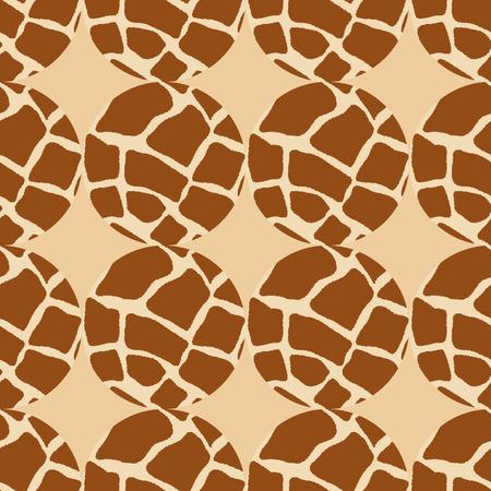 giraffe skin: seamless geometric pattern of circles-vector illustration. Giraffe skin background