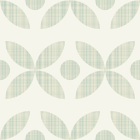 interweaving: Geometric ornament seamless interweaving of fibres-vector illustration. Fabric structure, horizontal and vertical lines. Flower geometric dots.