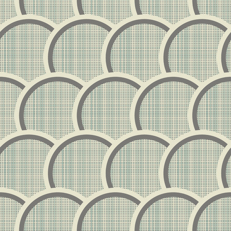 interweaving: Geometric ornament seamless interweaving of fibres-vector illustration. Fabric structure, horizontal and vertical lines. Circles dots.