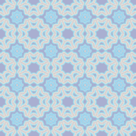 flowers fluffy: flowers and geometric patterns seamless-vector illustration.Tribal background, fluffy edges of the pattern.