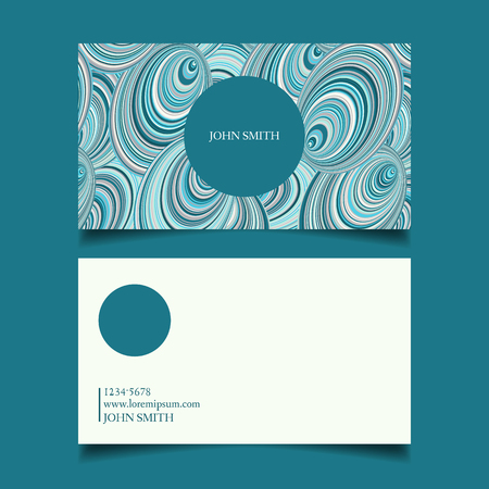 neat: Template business card, editable, neat, celadon, the design of the project card-vector illustration